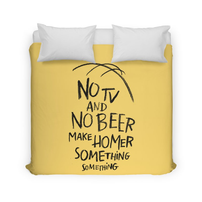 SOMETHING SOMETHING Home Duvet by Made With Awesome