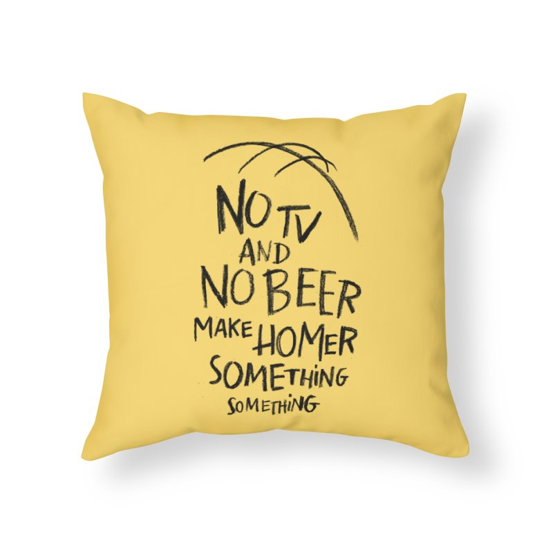 SOMETHING SOMETHING Home Throw Pillow by Made With Awesome