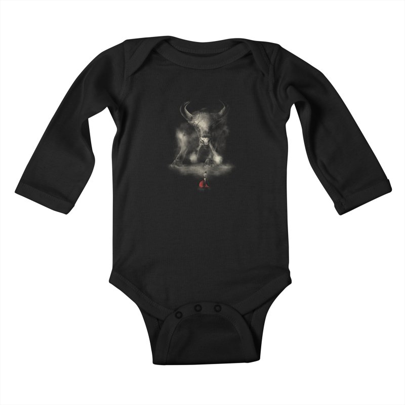 Matador's Match Kids Baby Longsleeve Bodysuit by Made With Awesome