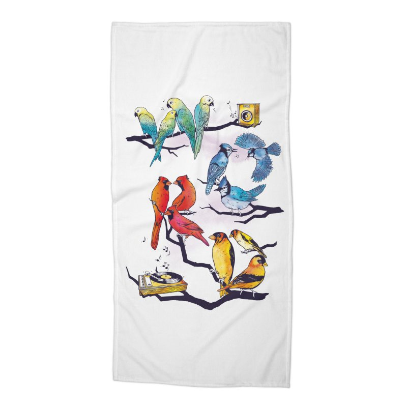 The Bird is The Word Accessories Beach Towel by Made With Awesome