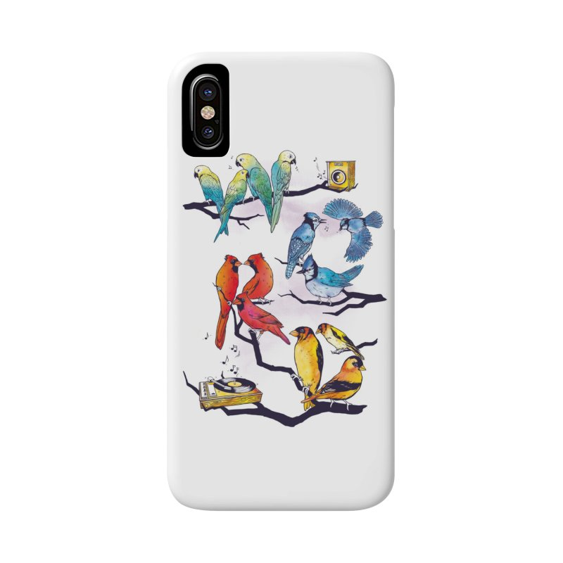 The Bird is The Word Accessories Phone Case by Made With Awesome