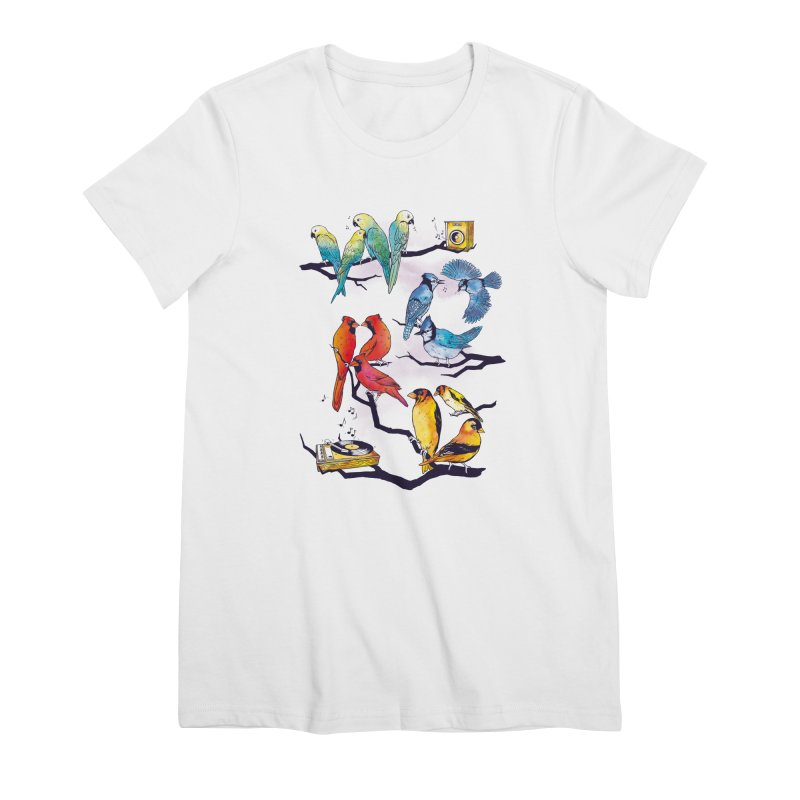 The Bird is The Word Women's Premium T-Shirt by Made With Awesome