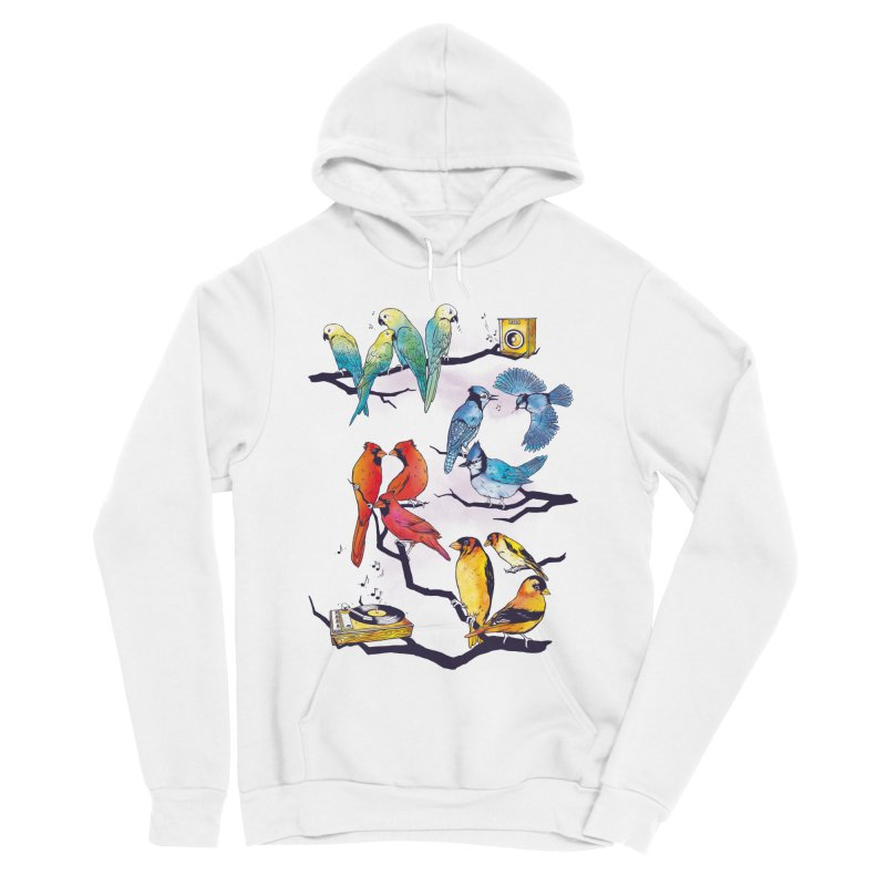 The Bird is The Word Men's Sponge Fleece Pullover Hoody by Made With Awesome