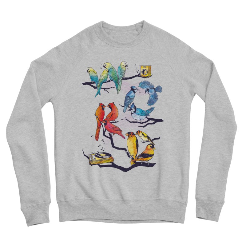 The Bird is The Word Men's Sponge Fleece Sweatshirt by Made With Awesome