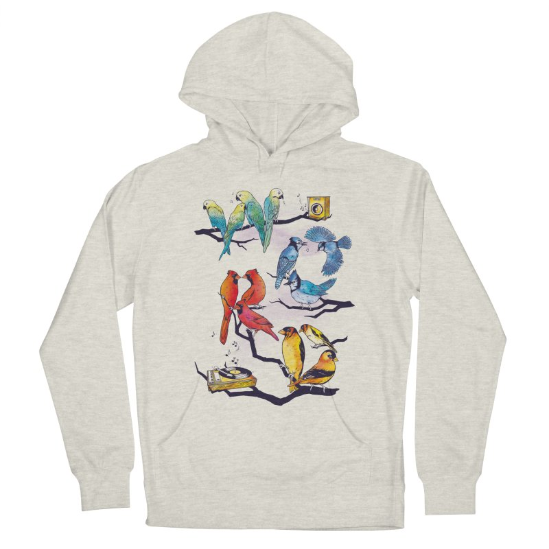 The Bird is The Word Men's French Terry Pullover Hoody by Made With Awesome