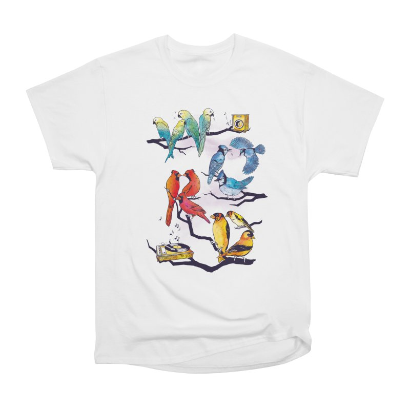 The Bird is The Word Men's Heavyweight T-Shirt by Made With Awesome