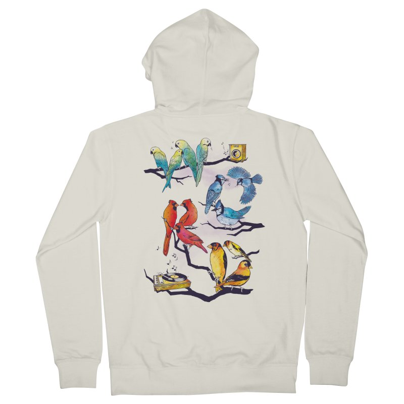 The Bird is The Word Men's French Terry Zip-Up Hoody by Made With Awesome