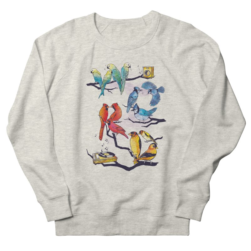 The Bird is The Word Men's French Terry Sweatshirt by Made With Awesome
