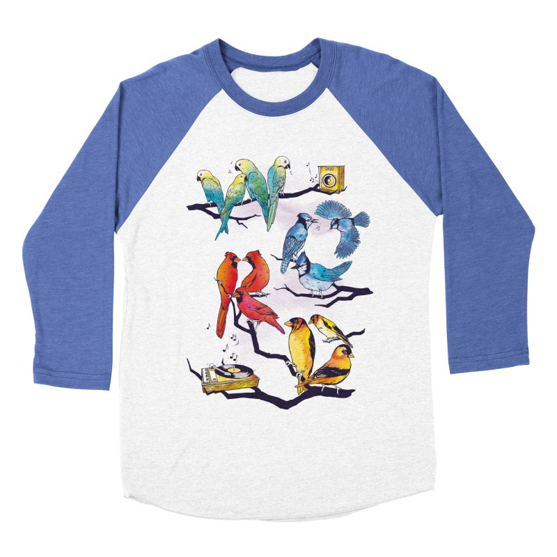 The Bird is The Word Men's Baseball Triblend Longsleeve T-Shirt by Made With Awesome