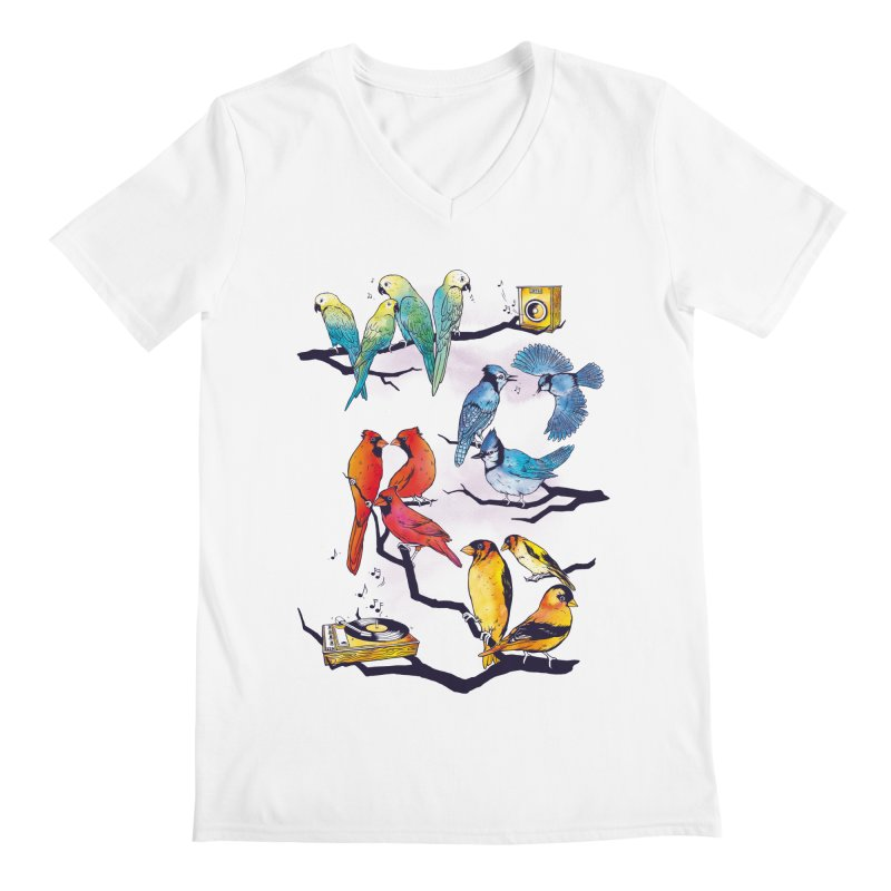 The Bird is The Word Men's Regular V-Neck by Made With Awesome
