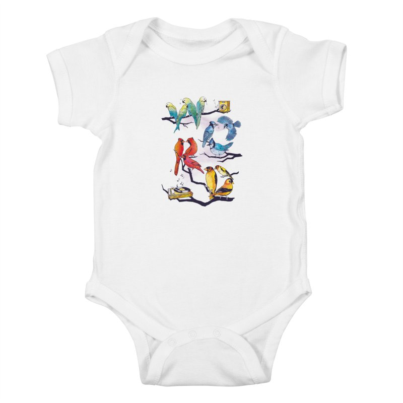 The Bird is The Word Kids Baby Bodysuit by Made With Awesome
