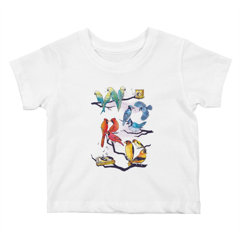The Bird is The Word Kids Baby T-Shirt by Made With Awesome