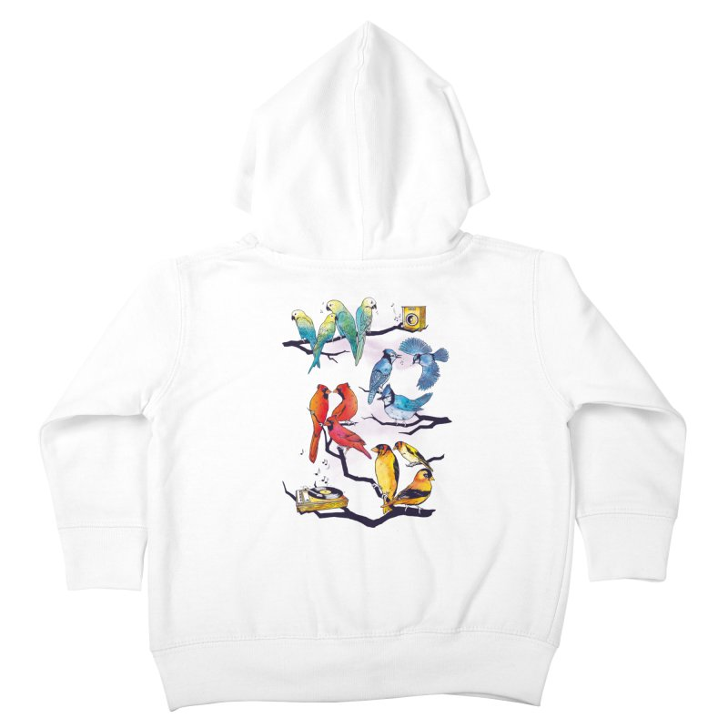 The Bird is The Word Kids Toddler Zip-Up Hoody by Made With Awesome