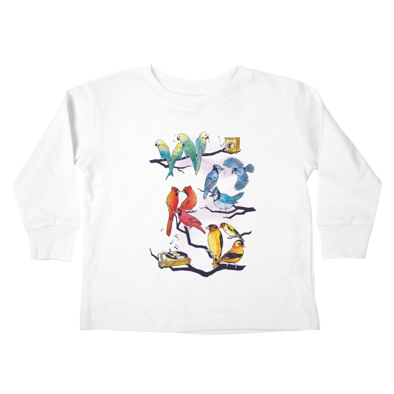 The Bird is The Word Kids Toddler Longsleeve T-Shirt by Made With Awesome