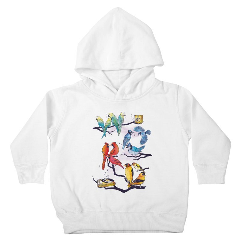 The Bird is The Word Kids Toddler Pullover Hoody by Made With Awesome