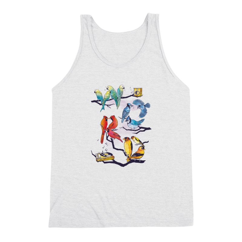 The Bird is The Word Men's Triblend Tank by Made With Awesome