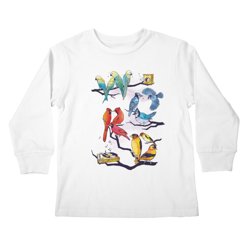 The Bird is The Word Kids Longsleeve T-Shirt by Made With Awesome