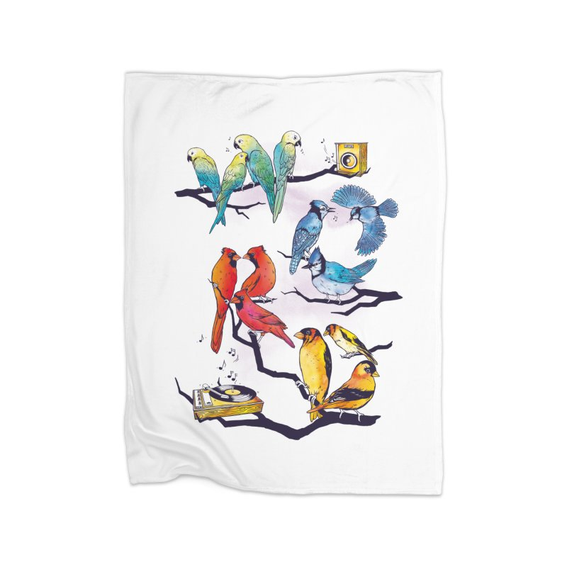 The Bird is The Word Home Blanket by Made With Awesome