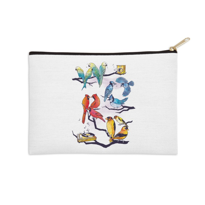 The Bird is The Word Accessories Zip Pouch by Made With Awesome