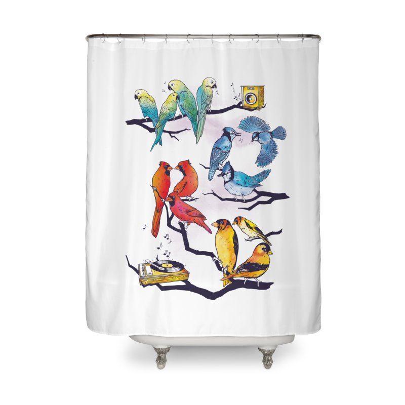 The Bird is The Word Home Shower Curtain by Made With Awesome