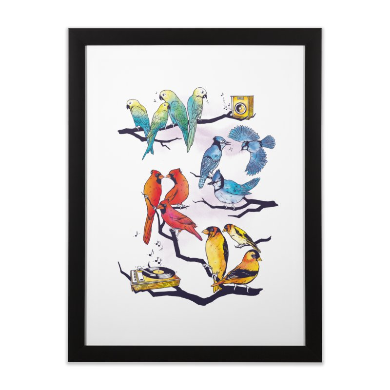 The Bird is The Word Home Framed Fine Art Print by Made With Awesome
