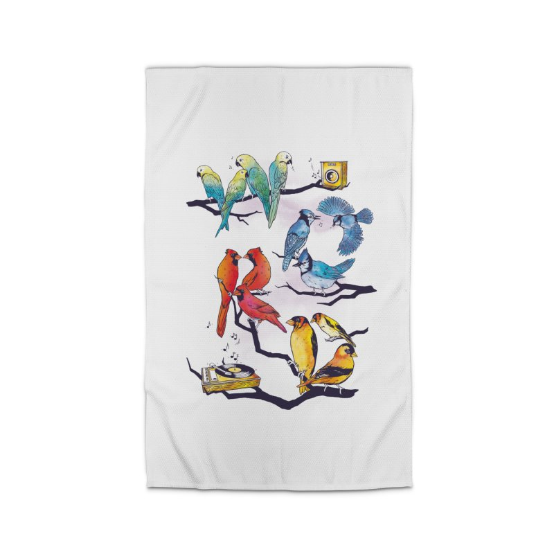The Bird is The Word Home Rug by Made With Awesome