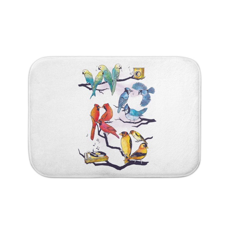 The Bird is The Word Home Bath Mat by Made With Awesome