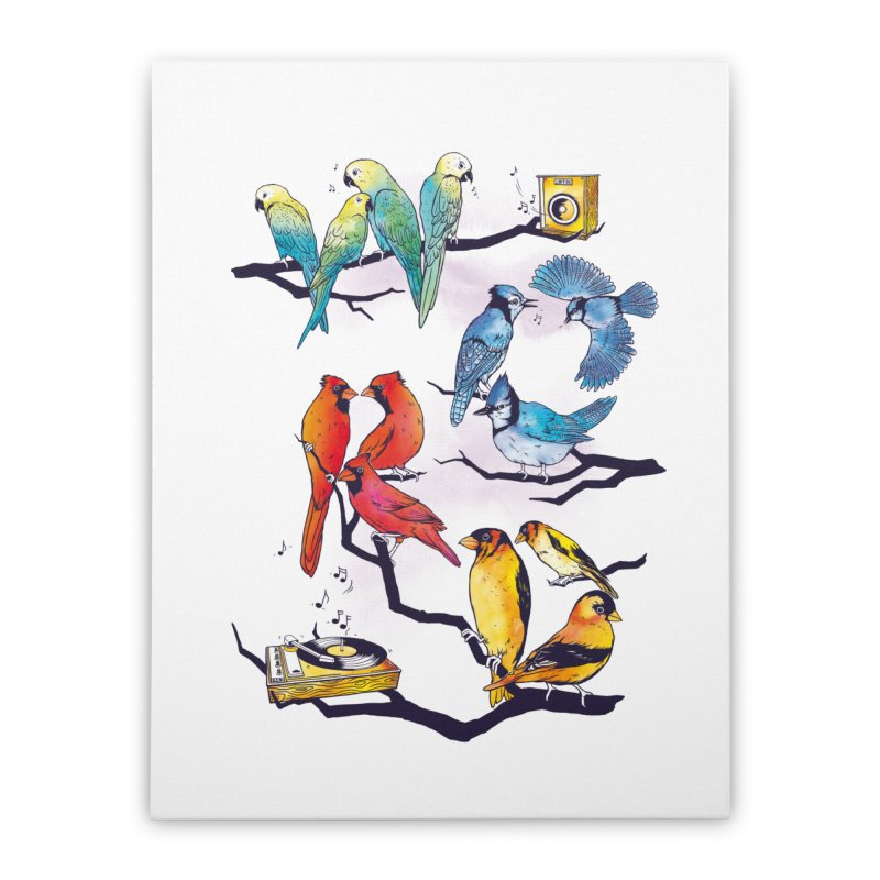The Bird is The Word Home Stretched Canvas by Made With Awesome