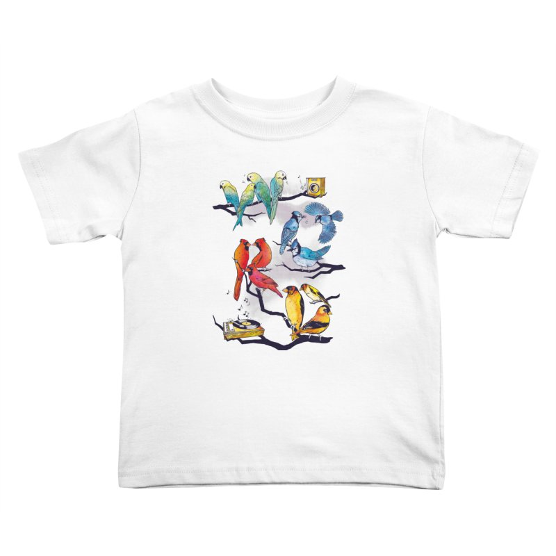 The Bird is The Word Kids Toddler T-Shirt by Made With Awesome