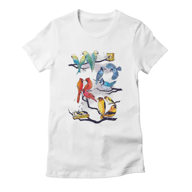 The Bird is The Word Women's Fitted T-Shirt by Made With Awesome