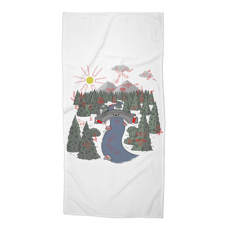 Draw Bridge Accessories Beach Towel by Made With Awesome