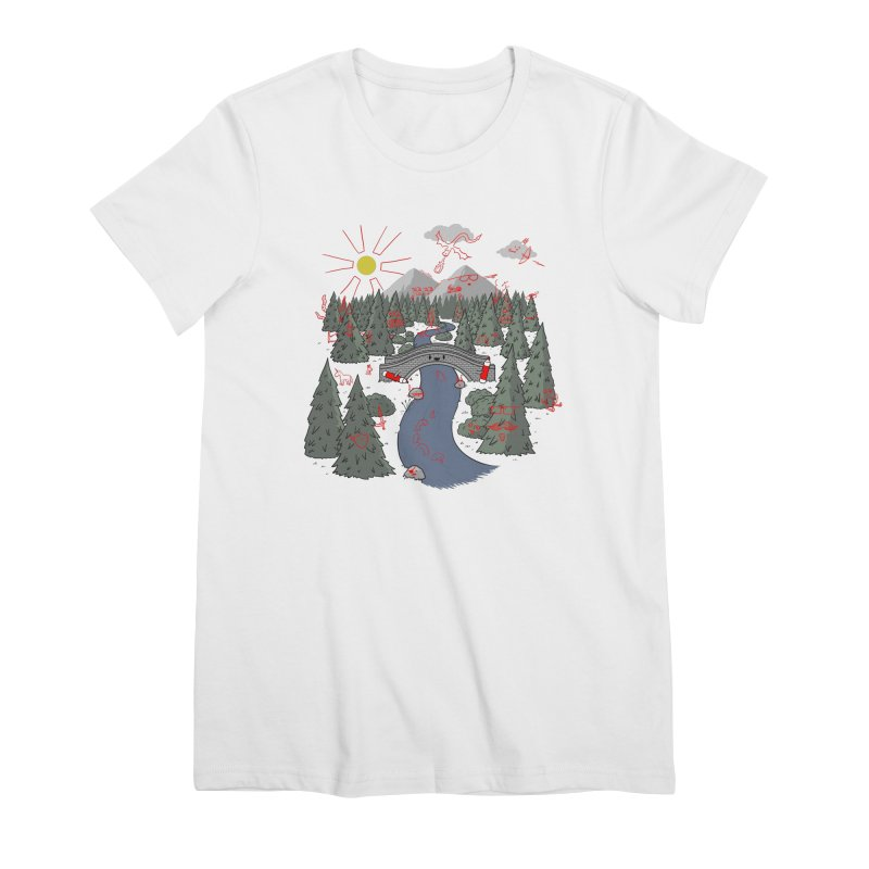 Draw Bridge Women's Premium T-Shirt by Made With Awesome