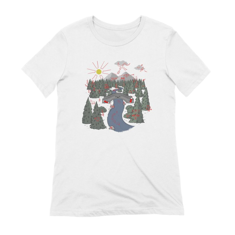 Draw Bridge Women's Extra Soft T-Shirt by Made With Awesome