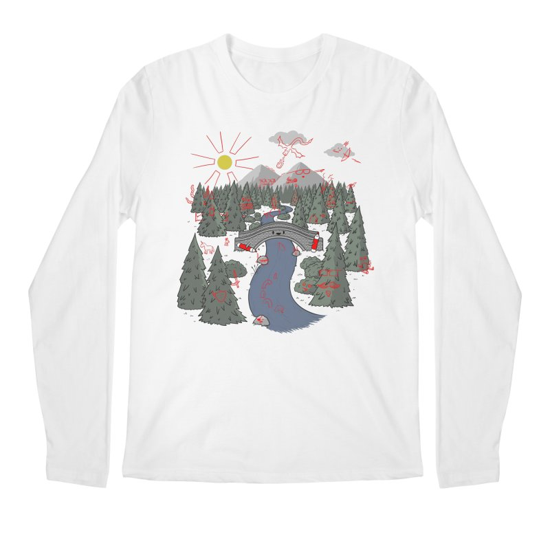 Draw Bridge Men's Regular Longsleeve T-Shirt by Made With Awesome