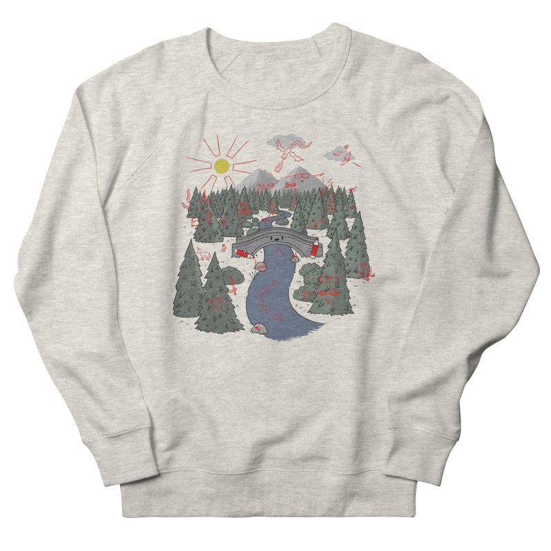 Draw Bridge Men's French Terry Sweatshirt by Made With Awesome
