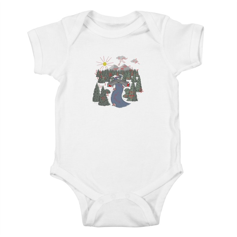 Draw Bridge Kids Baby Bodysuit by Made With Awesome
