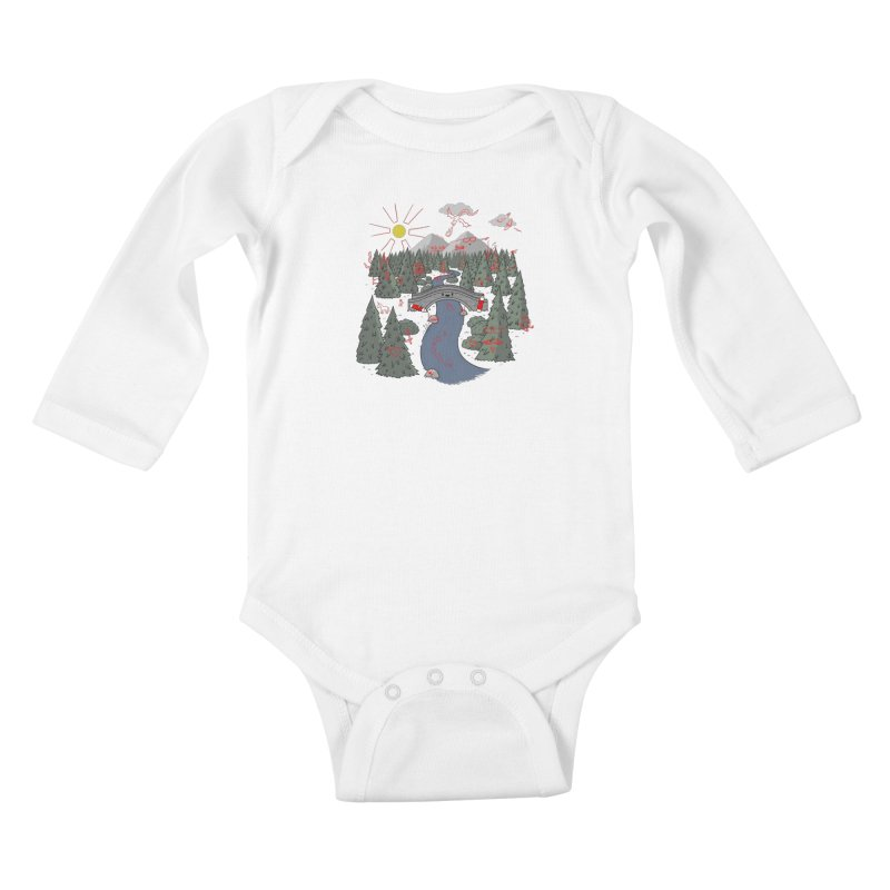 Draw Bridge Kids Baby Longsleeve Bodysuit by Made With Awesome