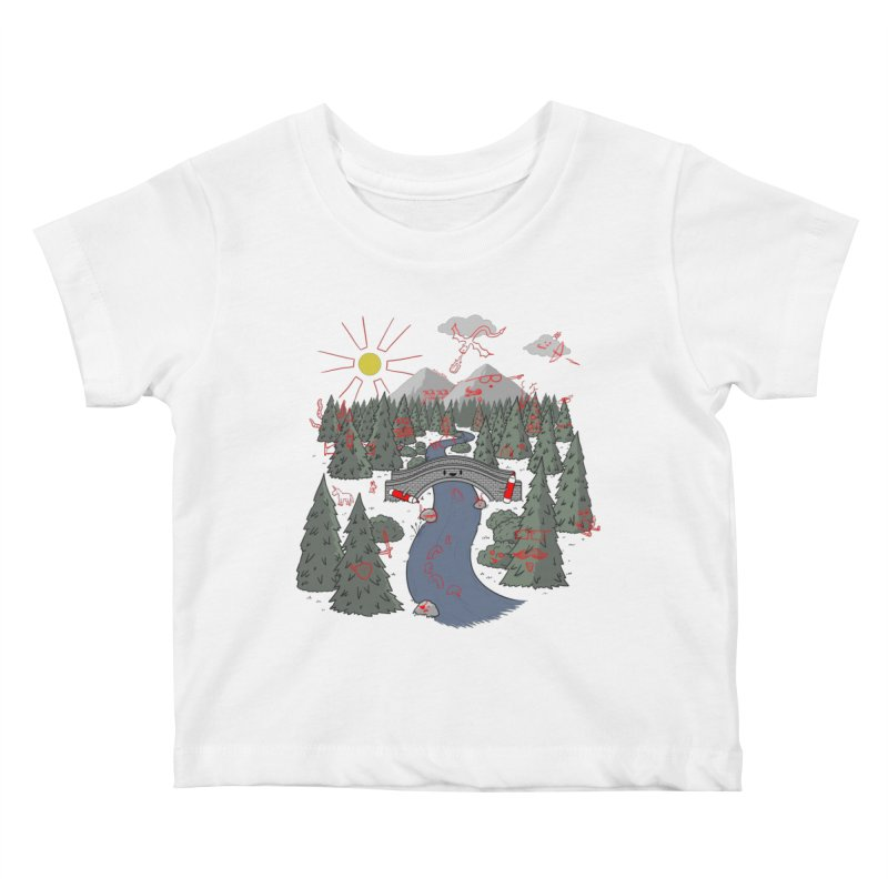 Draw Bridge Kids Baby T-Shirt by Made With Awesome