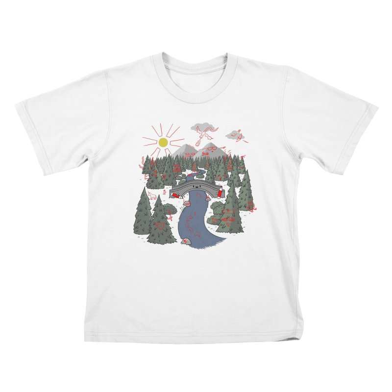 Draw Bridge Kids Toddler T-Shirt by Made With Awesome