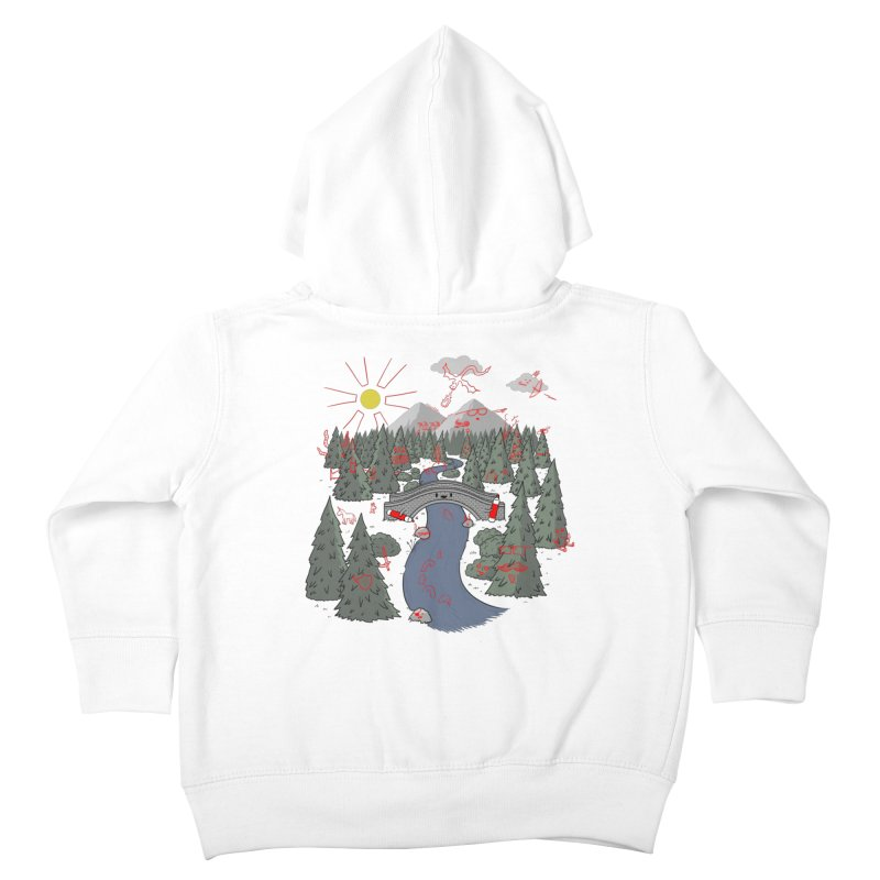 Draw Bridge Kids Toddler Zip-Up Hoody by Made With Awesome