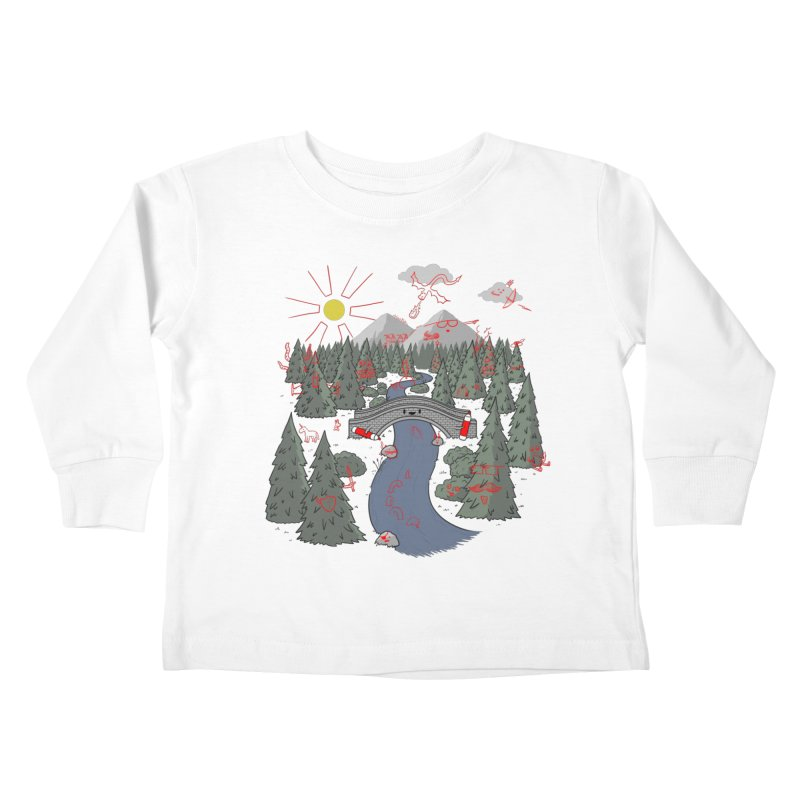 Draw Bridge Kids Toddler Longsleeve T-Shirt by Made With Awesome