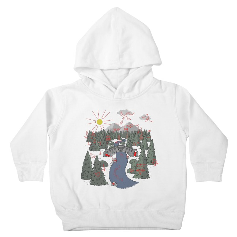 Draw Bridge Kids Toddler Pullover Hoody by Made With Awesome