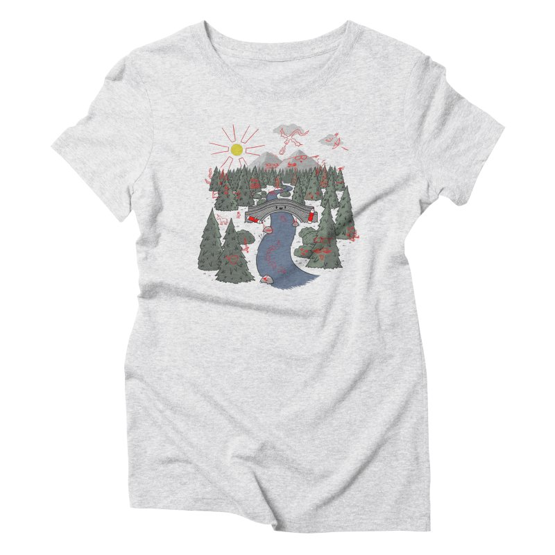 Draw Bridge Women's Triblend T-Shirt by Made With Awesome