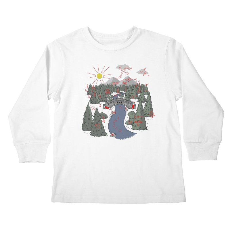 Draw Bridge Kids Longsleeve T-Shirt by Made With Awesome