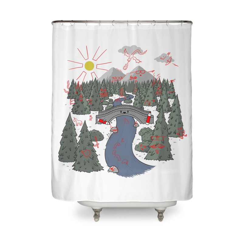 Draw Bridge Home Shower Curtain by Made With Awesome
