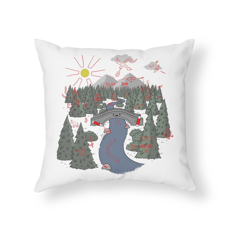 Draw Bridge Home Throw Pillow by Made With Awesome