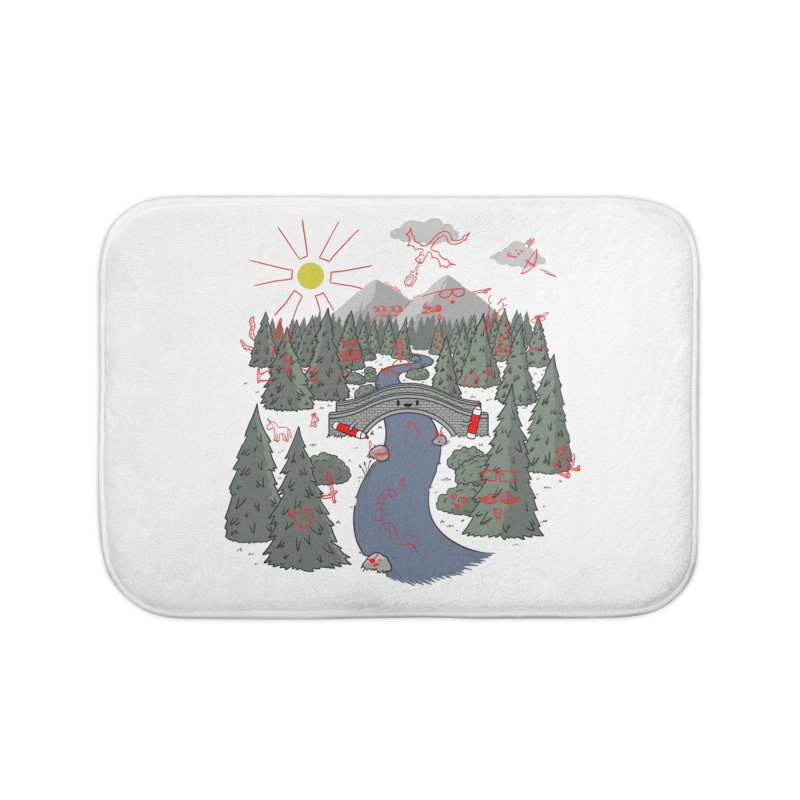 Draw Bridge Home Bath Mat by Made With Awesome