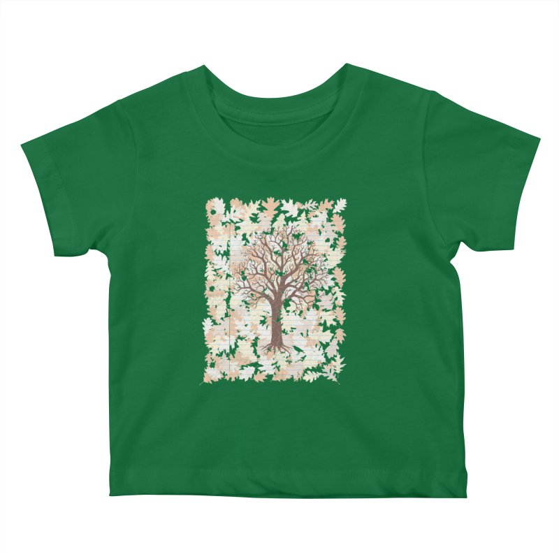 Loose Leaf Kids Baby T-Shirt by Made With Awesome