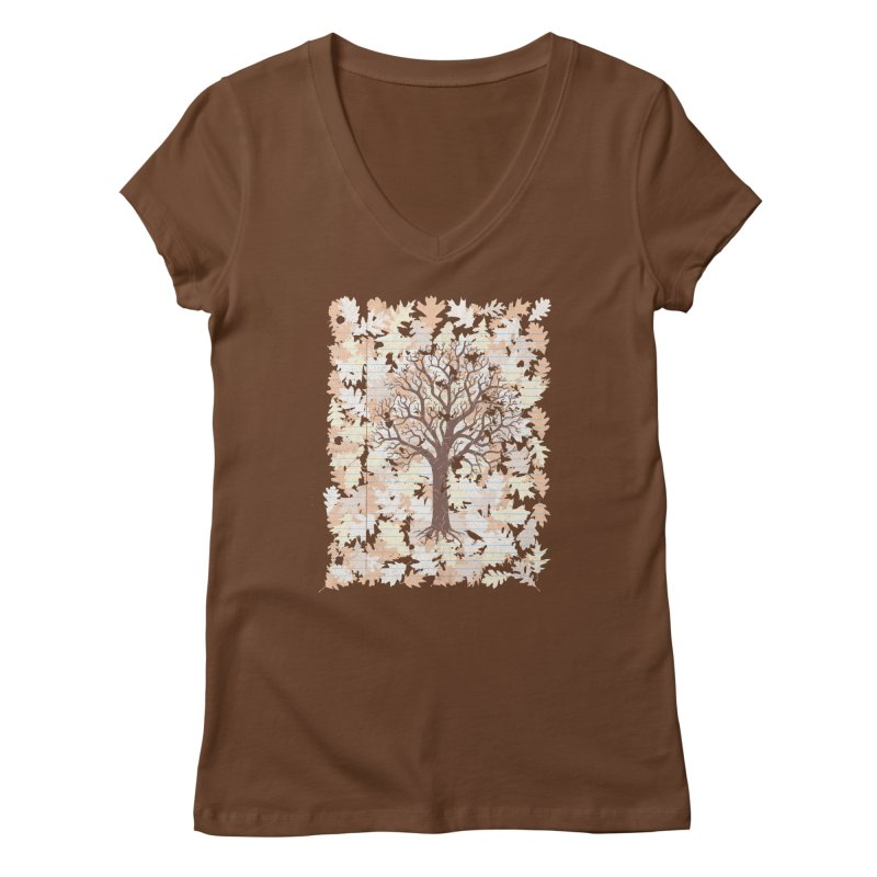 Loose Leaf Women's Regular V-Neck by Made With Awesome