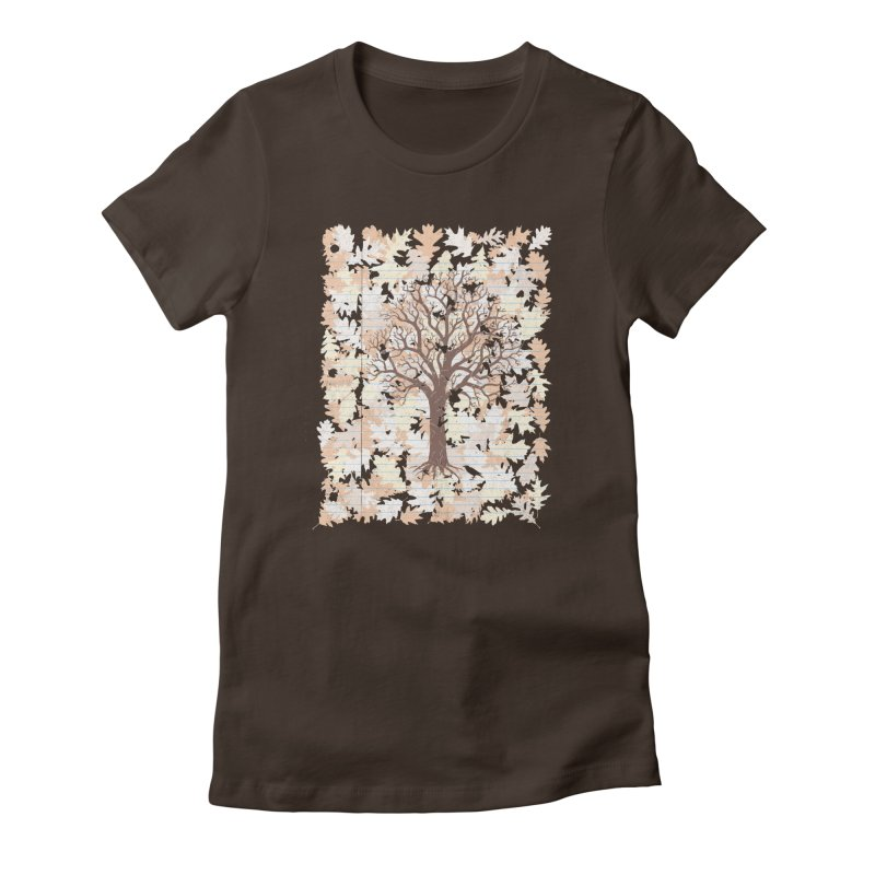 Loose Leaf Women's Fitted T-Shirt by Made With Awesome